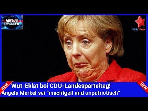 """Wut-Eklat bei CDU-Landesparteitag! Angela Merkel sei """"machtgeil und unpatriotisch"""""""