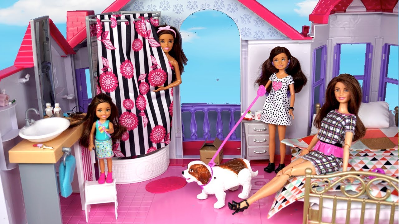 Download Barbie New Family School Morning Routine - Packing lunchbox & Riding School Bus