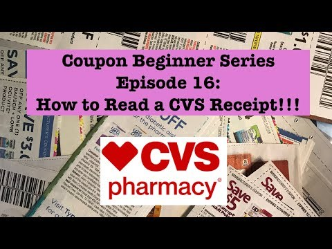 Coupon Beginner Series Ep 16: CVS Couponing|How to Read a CVS Receipt!!!!!