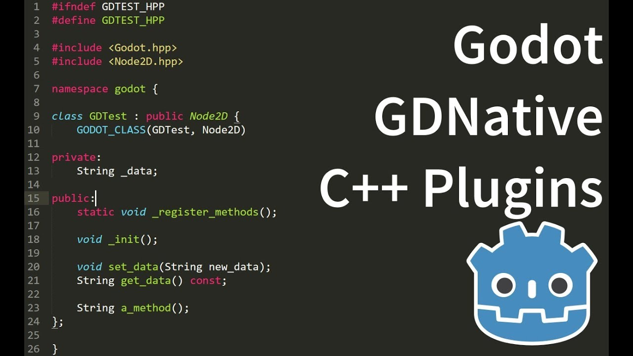 Godot Nativescript 1 1 introduction - writing C++ plugins