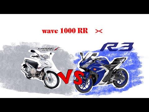 R3 Vs Wave 1000rr 555 Test Gopro Hero 5 : Guz Rider EP.1