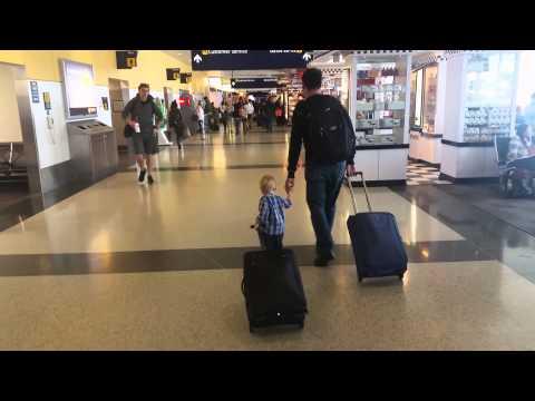 Robbie, the global traveler, takes on luggage