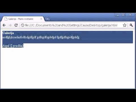 HTML CSS Pamokos - 3 - Nuorodos