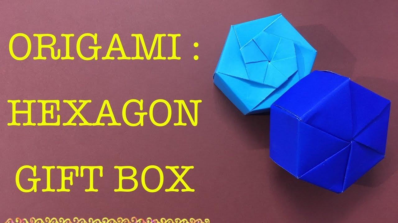 Hexagon Gift Box Origami Easy Craft Youtube Tomoko Fuse Instructions