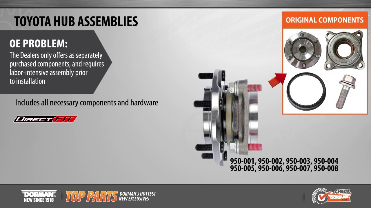 Wheel Bearing and Hub Assembly | 950-001 | Pre-Pressed Hub Assembly