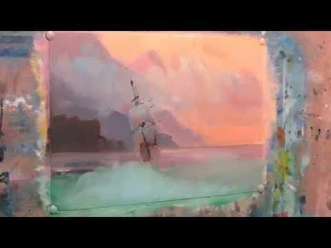 Seascape on motives paintings by Ivan Aivazovsky . Oil. Part 1.