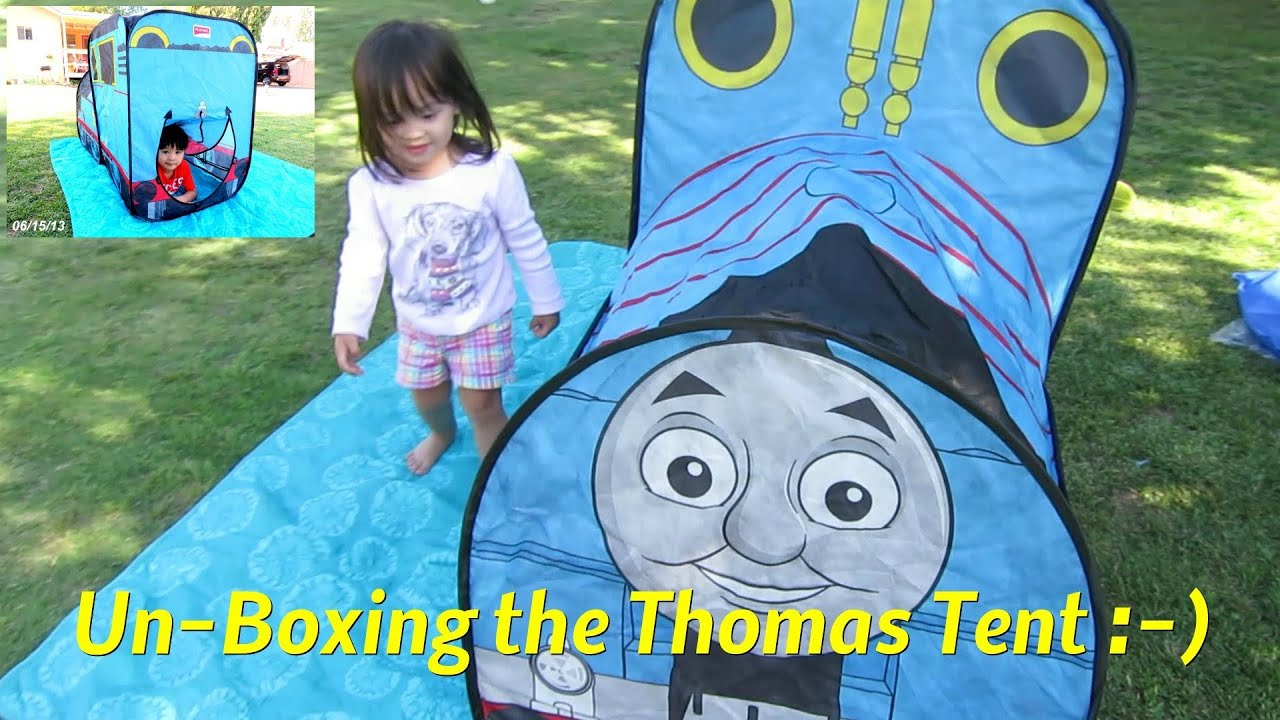 The kids love this tent! Unboxing Thomas Vehicle Tent - Thomas u0026 Friends - YouTube & The kids love this tent! Unboxing Thomas Vehicle Tent - Thomas ...
