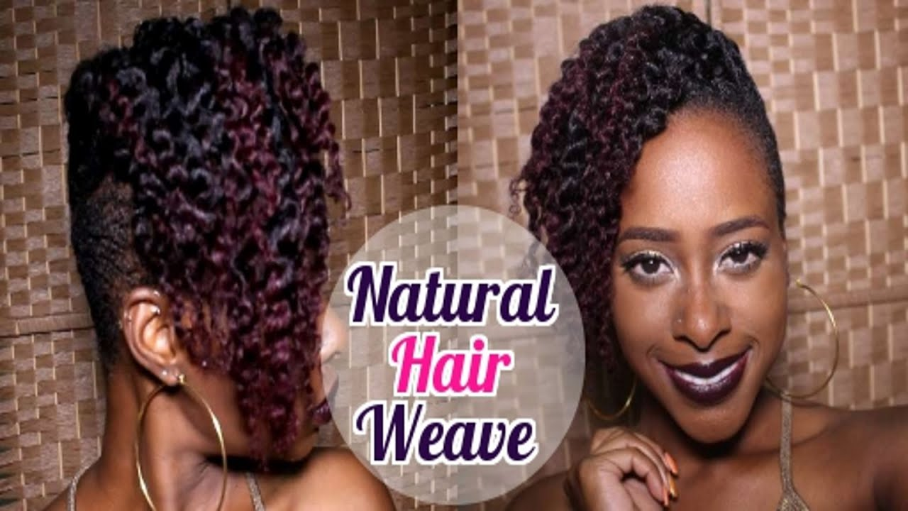 Most Affordable Natural Hair Weave Weave On Tapered Cut Youtube