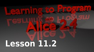 Alice Tutorial 2.4 Lesson 11.2 - Variables As 3d Text