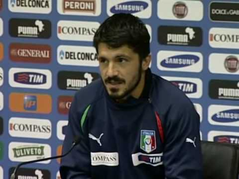 FIFA World Cup 2010 - Italy vs Paraguay - Gattuso talks about retiring