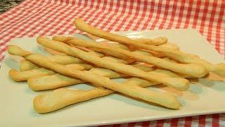 Receta de palillos de pan crujientes  grisines