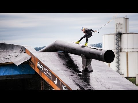 Wakeboarding Contest on an Obstacle Foundation - Red Bull Wake of Steel 2013