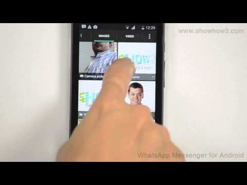 WhatsApp Messenger - How To Send A Photo