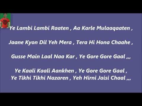 Yeh Kali Kali Aankhen Karaoke With Lyrics =Baazigar