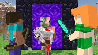 Zombie Pigman vs Villager  Life - Minecraft Life Animation