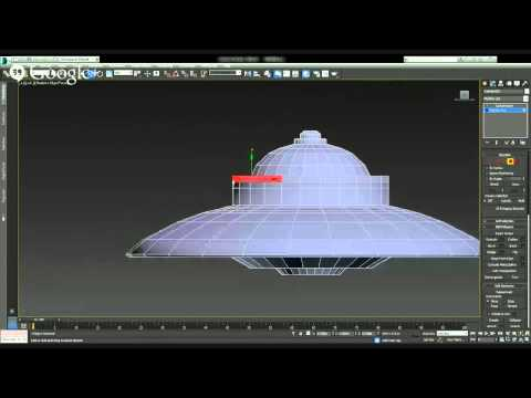 3ds Max Make a flying saucer...