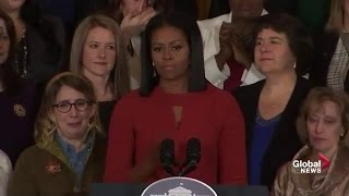 Michelle Obama delivers emotional final speech as first lady of the United States