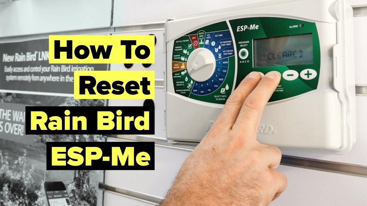 How To Reset A Rain Bird Esp Me Irrigation Controller Youtube
