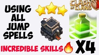 ATTACKING WITH ALL JUMP SPELLS😱 | TOWNHALL 9 | CLASH OF CLANS