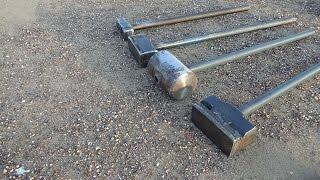 тренировка с кувалдой 28 килограммов (sledgehummer training 28kg/ 61,7lb)