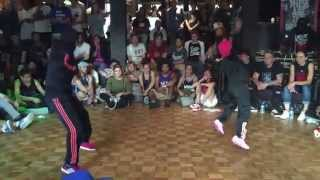 IBE Heart Breaker 2v2 Bgirl Battle Top 8. Bgirl Eddie & Bgirl Terra vs Melissa and ????