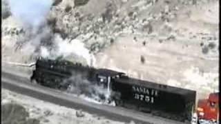Santa Fe Steam Locomotive 3751, December 30, 1991