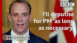 Coronavirus: PM Boris Johnson is a fighter and will recover - Raab 🔴 - BBC