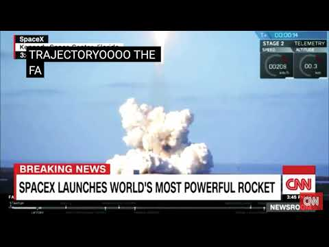 Breaking news Space X launched | today| world's most powerful Rocket