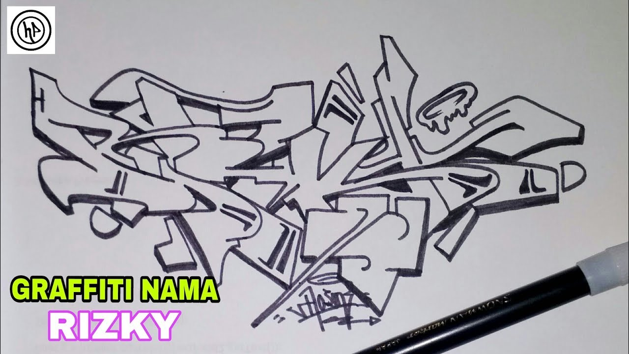 Graffiti 2d Hitam Putih Youtube
