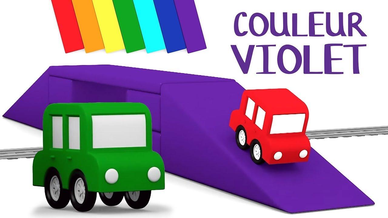 Dessin Animé éducatif Pour Enfants De 4 Voitures Couleur Violet