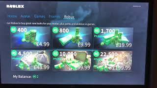 Roblox Free Robux Glitch (Xbox 1)