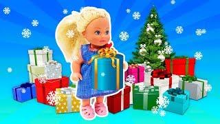 Puppenvideo für Kinder auf Deutsch. Weihnachten ist da. Die Puppen schreiben ihre Wunschzettel