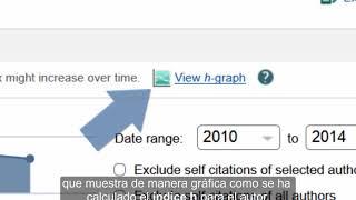 Cómo conocer el índice h de un autor en Scopus y Web of Science