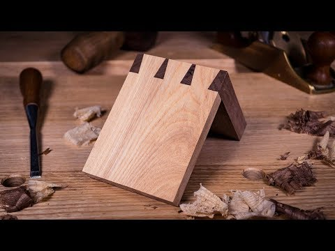 How to cut a DOVETAIL JOINT by HAND