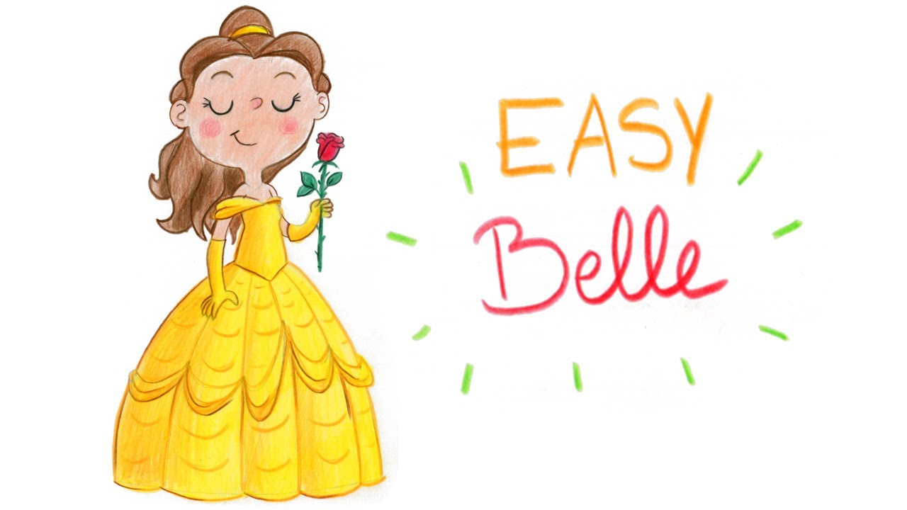 HOW TO DRAW BELLE FROM BEAUTY AND THE BEAST EASY WAY COMMENT DESSINER FACILEMENT