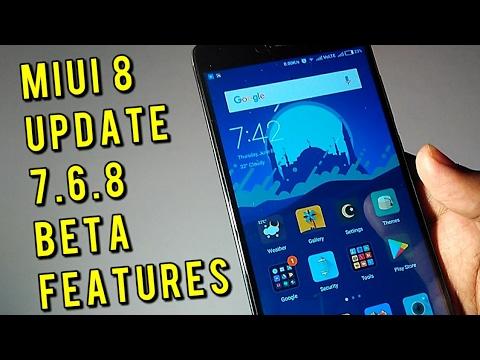 Miui 8 Update 7.6.8 Global Beta Developer Weekly Rom | Hindi
