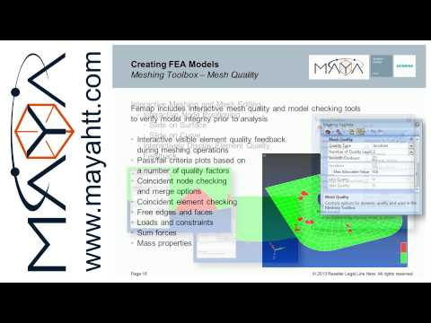 Femap™ Webinar Series Part 2: Creating a FE model that is actually useful
