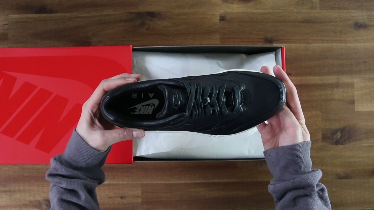 0794b0a7b77a Nike NikeLab Air Max 1 Pinnacle Black   TINT Footwear Studio - YouTube