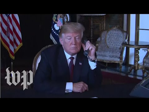 Trump speaks with members of the military by phone