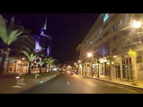 Rabat Drive by Night  The Lights city