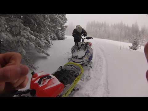Snowmobiling In Deep Powder  Monte Cristo, Utah