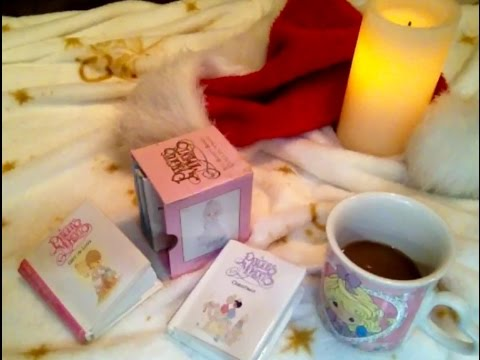 ASMR Whisper Reading A Precious Moments Christmas,1988 Itty Bitty Book Collection