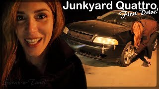 First Drive! // Audi Quattro Project