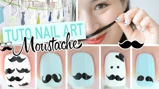 Nail art Moustache ♡ Movember + DIY