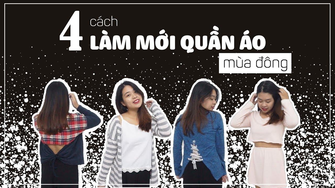 4 CÁCH LÀM MỚI QUẦN ÁO MÙA ĐÔNG – Recycle winter clothes | DIY #13 | Made by Tram