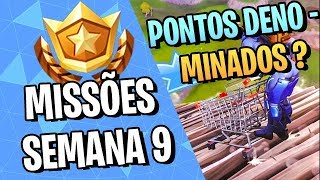 4 DESIGNATED POINTS? -HOW TO PERFORM ALL MISSIONS OF THE WEEK 9-FORTNITE ‹ VINOK4 › SEASON 4