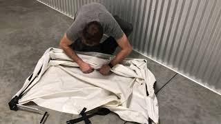 How to Fold & Buckle Saw Hood White