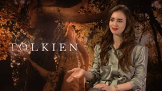 J.R.R. Tolkien Movie 2019 - #Celebrity Interview with Lily Collin's - FOX Searchlight Films