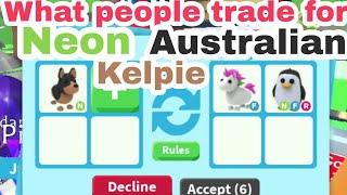 What people trade for Neon Kelpie | Trading Neon Australoan Kelpie | Neon Kelpie Adopt me | Dovgamez
