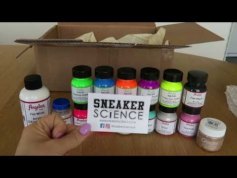 Unboxing Angelus Leather Paints Ordered From SneakerScience.Co.Uk